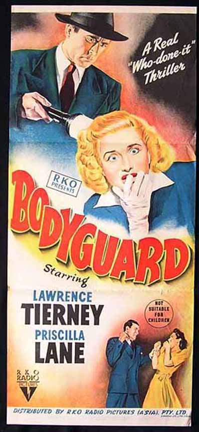 Priscilla Lane and Lawrence Tierney in Bodyguard (1948)