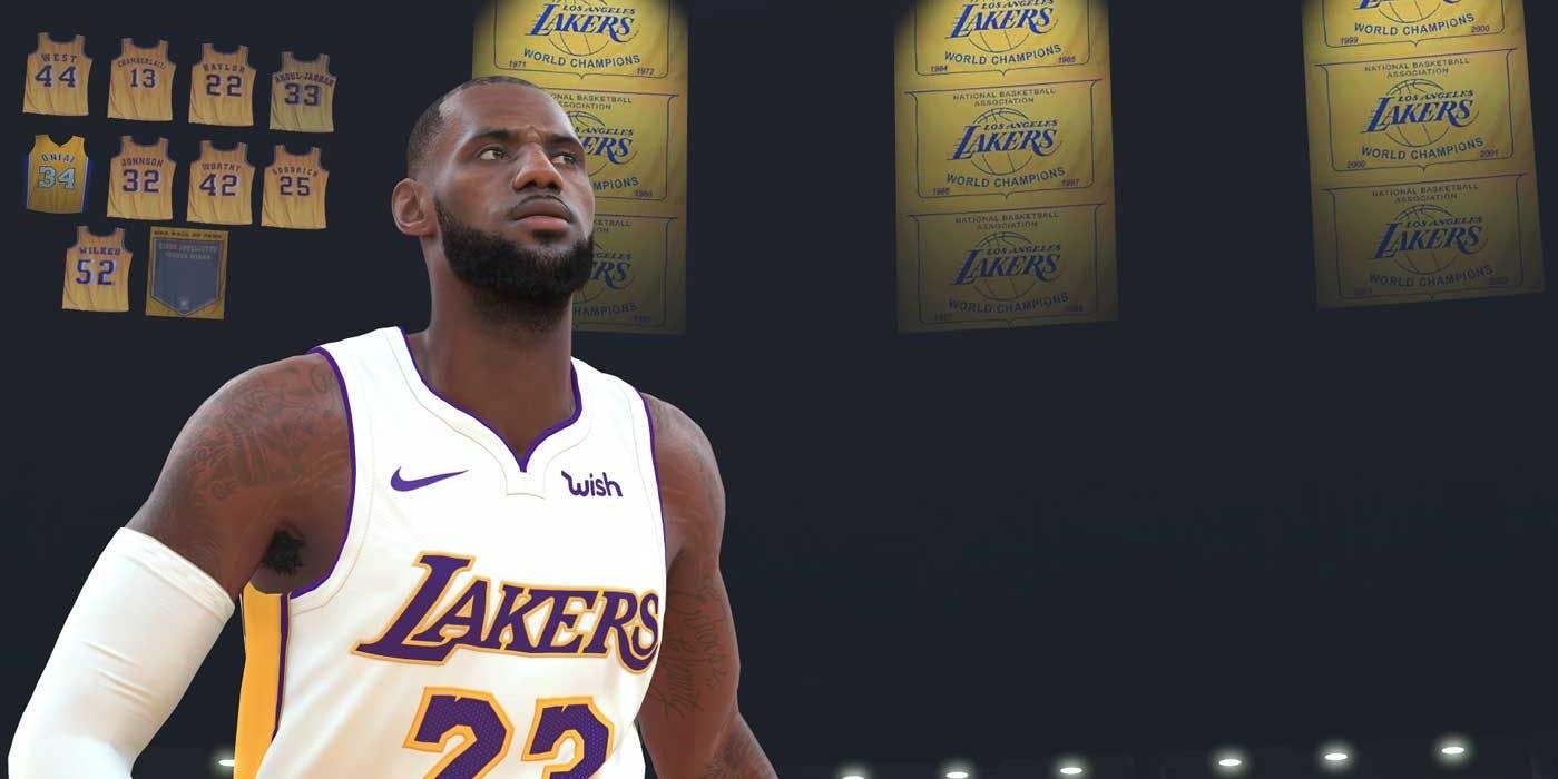 LeBron James in NBA 2k19 (2018)