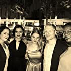TEHANA FATIMA WEEKS with the producers and cast of Scrap at the Beverly Hills Film Festival after party