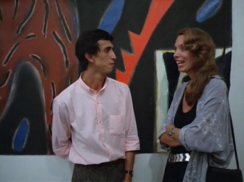 Leonilson in Spray Jet (1986)