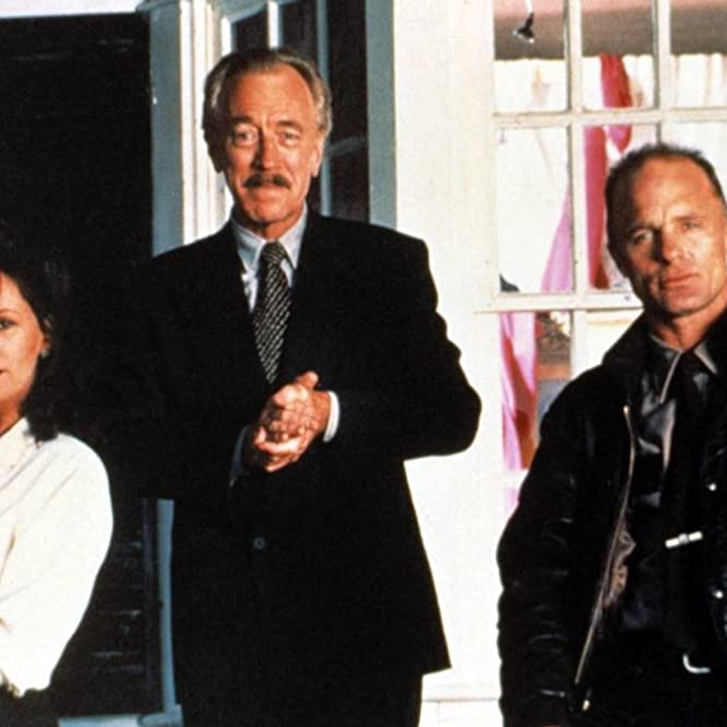 Ed Harris, Bonnie Bedelia, and Max von Sydow in Needful Things (1993)