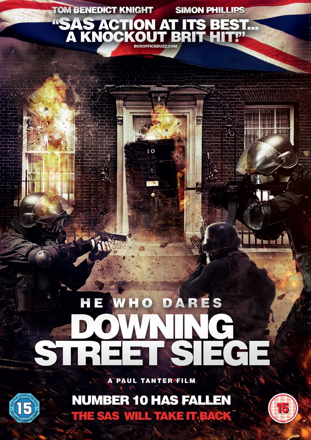 Poster film He Who Dares: Downing Street Siege.