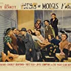 Joan Bennett, Jack Benny, Mary Boland, Joyce Compton, Fritz Feld, and Phyllis Kennedy in Artists and Models Abroad (1938)