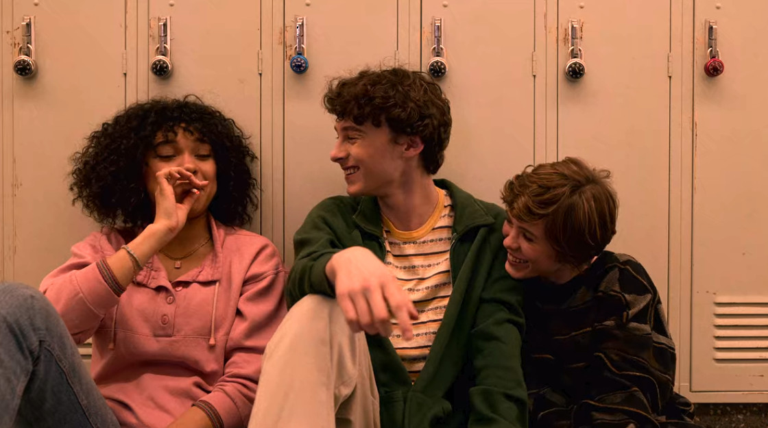 Wyatt Oleff, Sophia Lillis, and Sofia Bryant in Another Day in Paradise (2020)