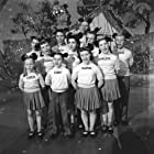 Annette Funicello, Sharon Baird, Bobby Burgess, Lonnie Burr, Tommy Cole, Darlene Gillespie, Cubby O'Brien, Karen Pendleton, Doreen Tracey, Roy Williams, and Dennis Day in The Mickey Mouse Club (1955)