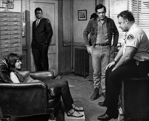 Sidney Poitier, Rod Steiger, and Quentin Dean