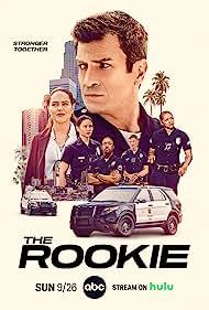 Nathan Fillion, Richard T. Jones, Eric Winter, Alyssa Diaz, Melissa O'Neil, and Mekia Cox in The Rookie (2018)