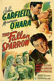 Maureen O'Hara, John Garfield, Patricia Morison, Martha O'Driscoll, and Walter Slezak in The Fallen Sparrow (1943)