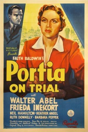 Walter Abel and Frieda Inescort in Portia on Trial (1937)