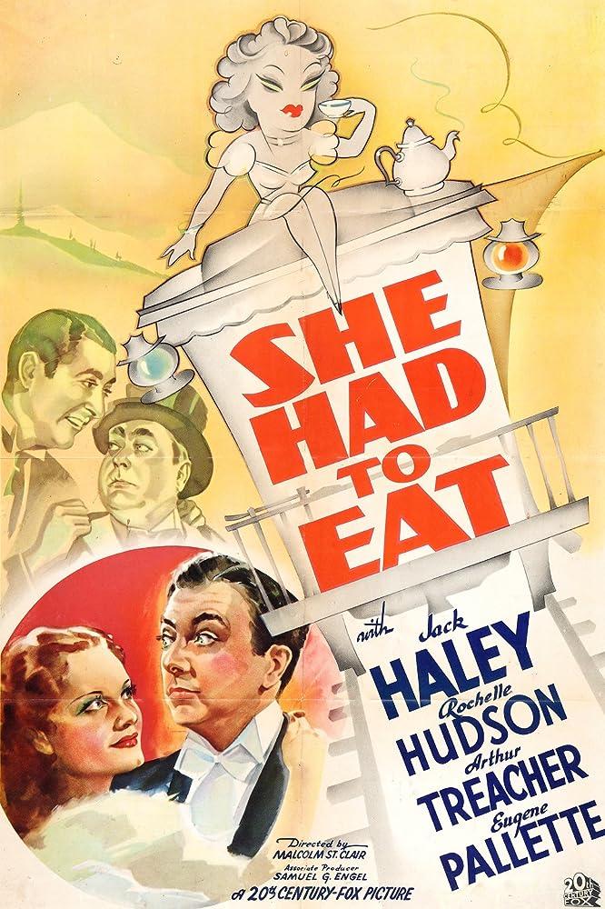 Jack Haley, Rochelle Hudson, Eugene Pallette, and Arthur Treacher in She Had to Eat (1937)