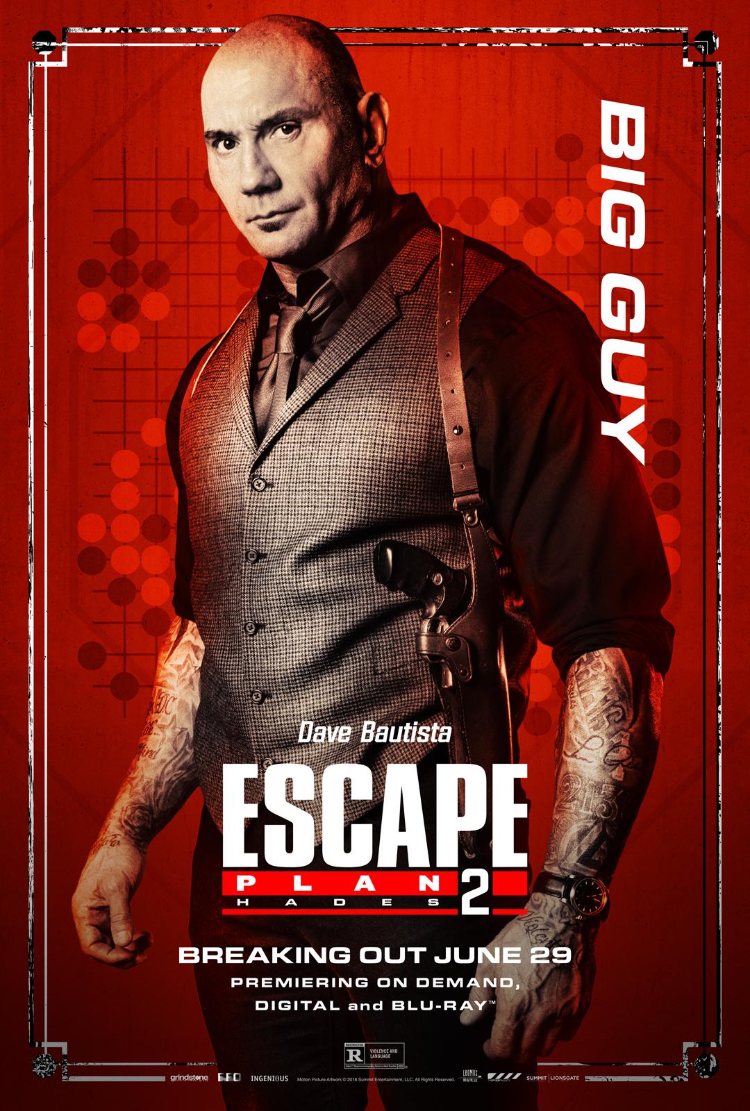 Dave Bautista in Escape Plan 2: Hades (2018)