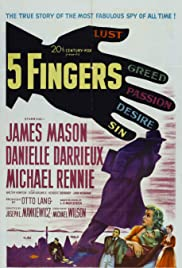 5 Fingers (1952) Poster - Movie Forum, Cast, Reviews