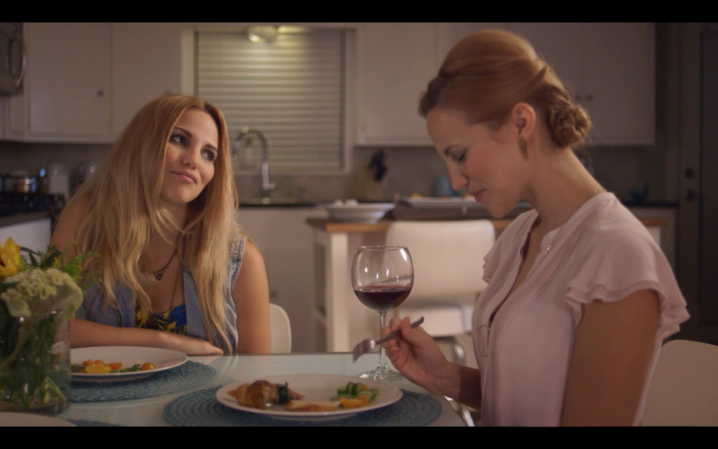 Laura Flannery as Alex and Ebby in The Golden Rut.