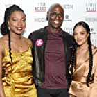 Lance Reddick, Tessa Thompson, and Nia DaCosta at an event for Little Woods (2018)