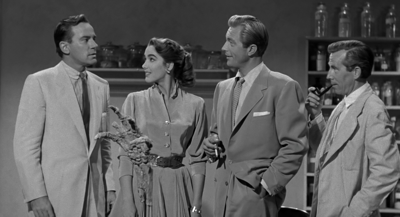 Whit Bissell, Julie Adams, Richard Carlson, and Richard Denning in Creature from the Black Lagoon (1954)