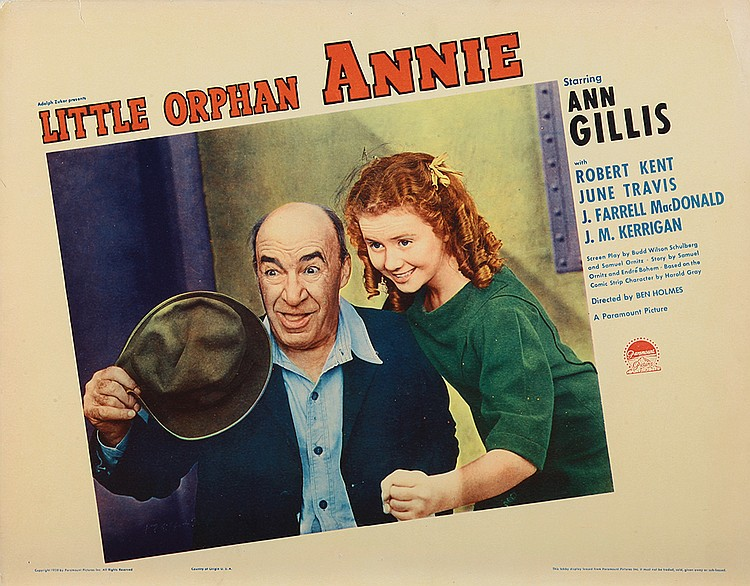 Ann Gillis and J. Farrell MacDonald in Little Orphan Annie (1938)