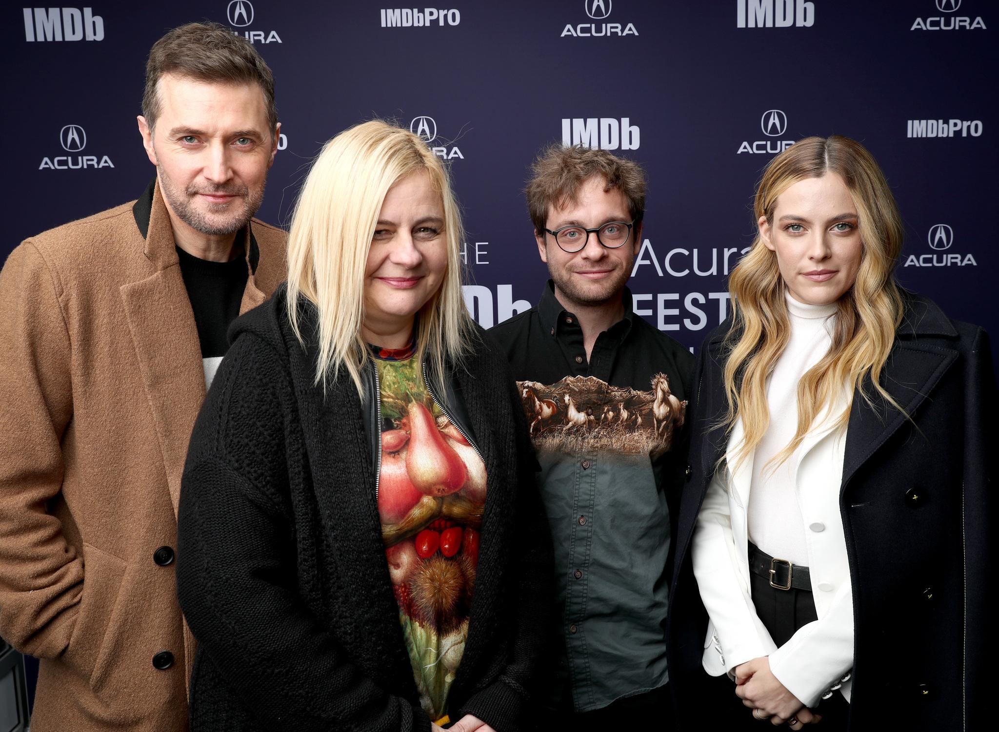 Richard Armitage, Veronika Franz, Riley Keough, and Severin Fiala at an event for The IMDb Studio at Sundance (2015)
