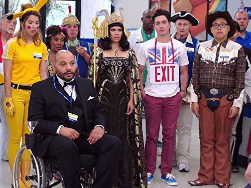America Ferrera, Ben Feldman, Colton Dunn, Carla Renata, Nichole Bloom, and Nico Santos in Superstore (2015)