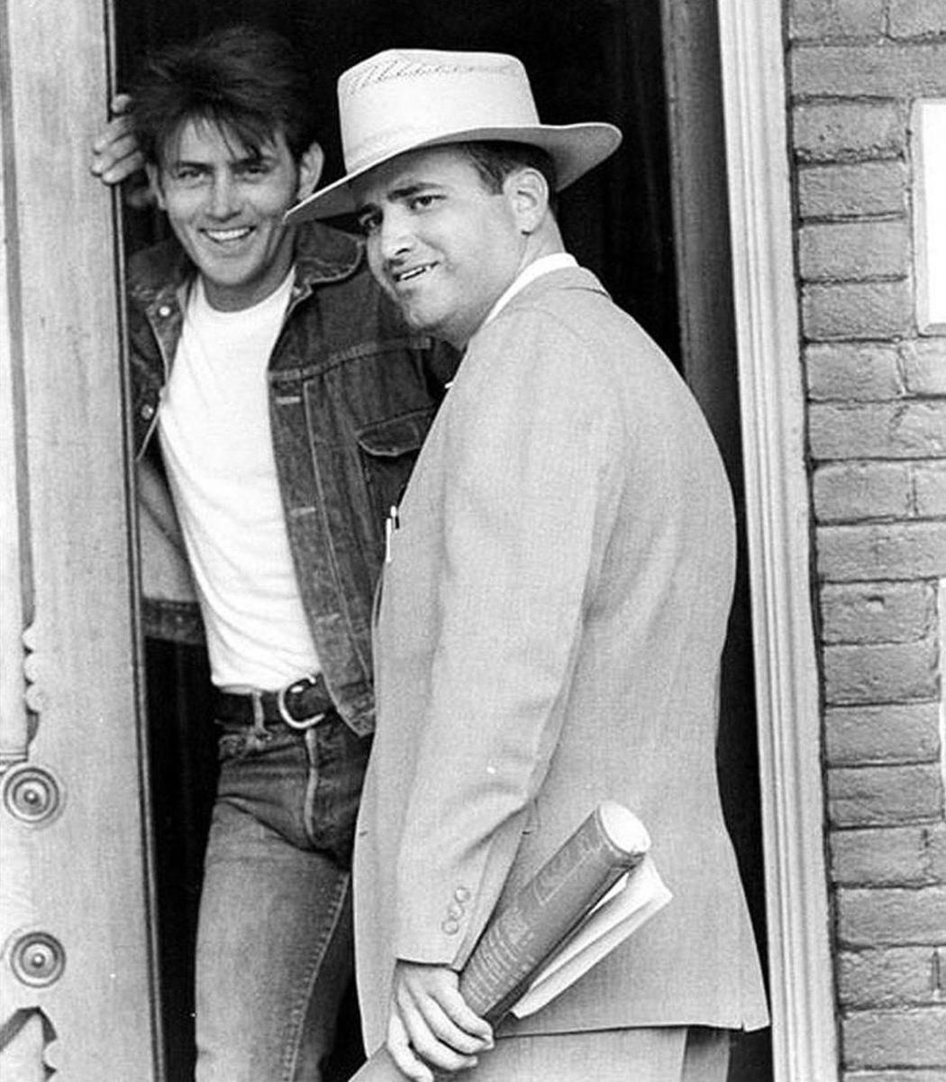 Terrence Malick and Martin Sheen in Badlands (1973)