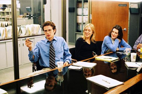 Melanie Lynskey, Chloë Sevigny, and Hayden Christensen in Shattered Glass (2003)