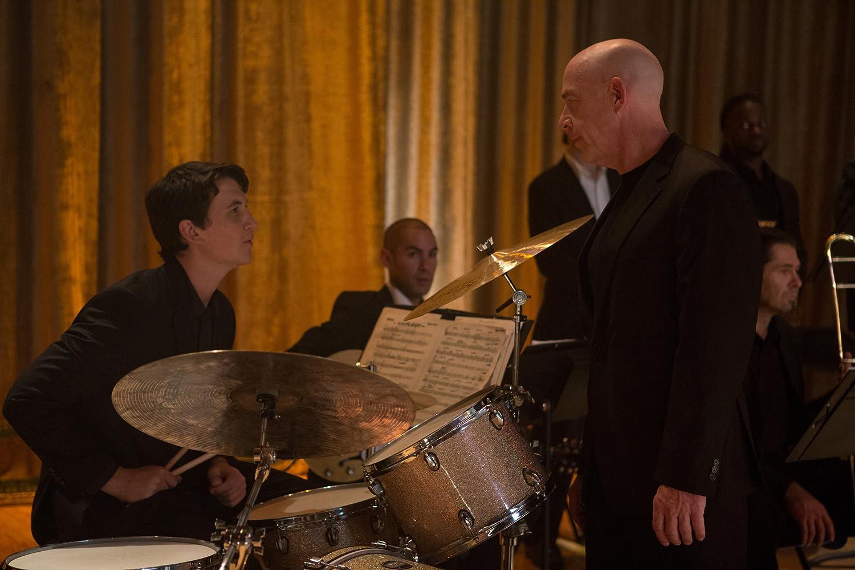 J.K. Simmons and Miles Teller in Whiplash (2014)