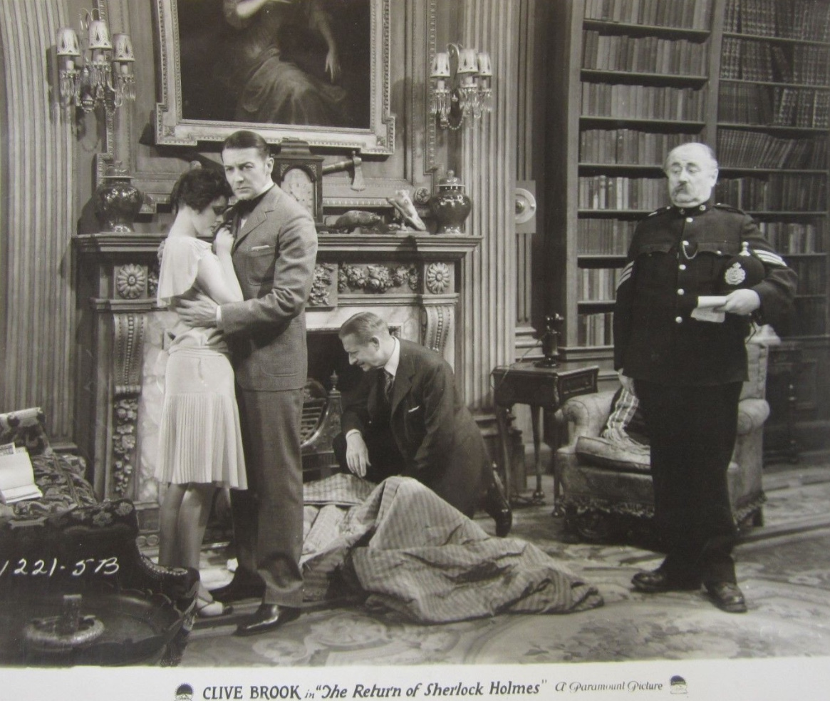 Clive Brook and Betty Lawford in The Return of Sherlock Holmes (1929)