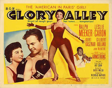 Louis Armstrong, Leslie Caron, and Ralph Meeker in Glory Alley (1952)