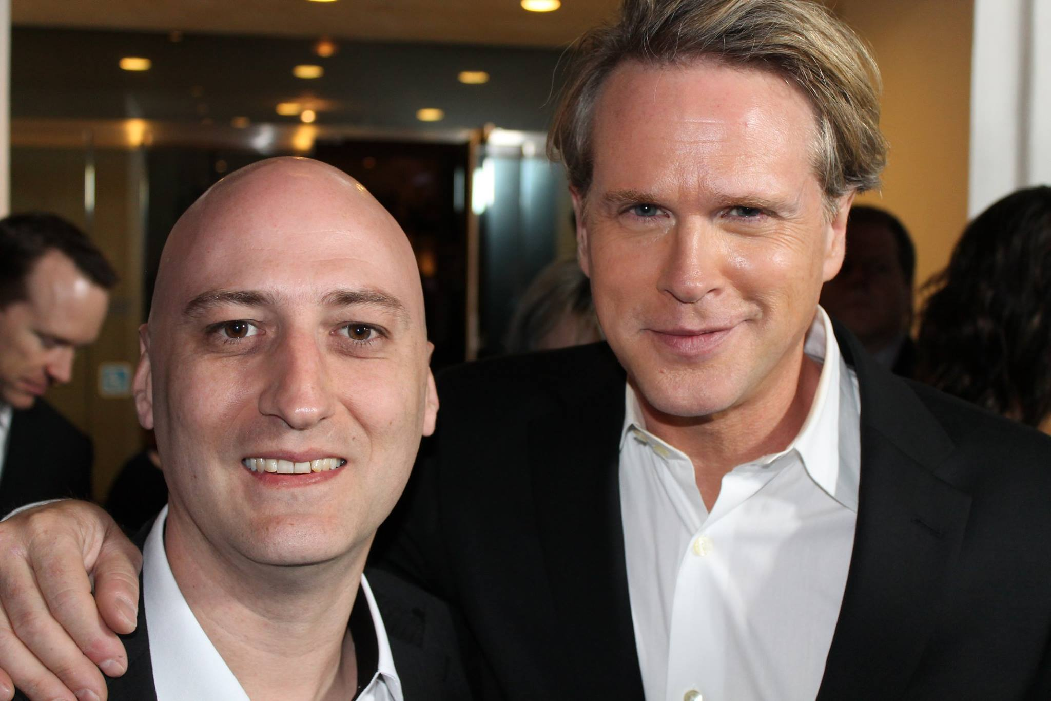 Cary Elwes and Mario Sévigny at an event for The Art of More (2015)