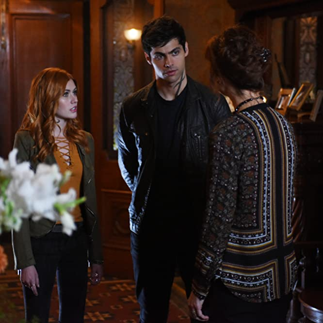 Stephanie Belding, Katherine McNamara, and Matthew Daddario in Shadowhunters: The Mortal Instruments (2016)