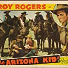 Roy Rogers, Fred Burns, Peter Fargo, Stuart Hamblen, George 'Gabby' Hayes, David Kerwin, and Sally March in The Arizona Kid (1939)