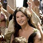 Catherine Zeta-Jones and Adrian Alonso in The Legend of Zorro (2005)