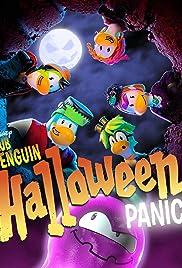 Penguin Halloween Panic Poster