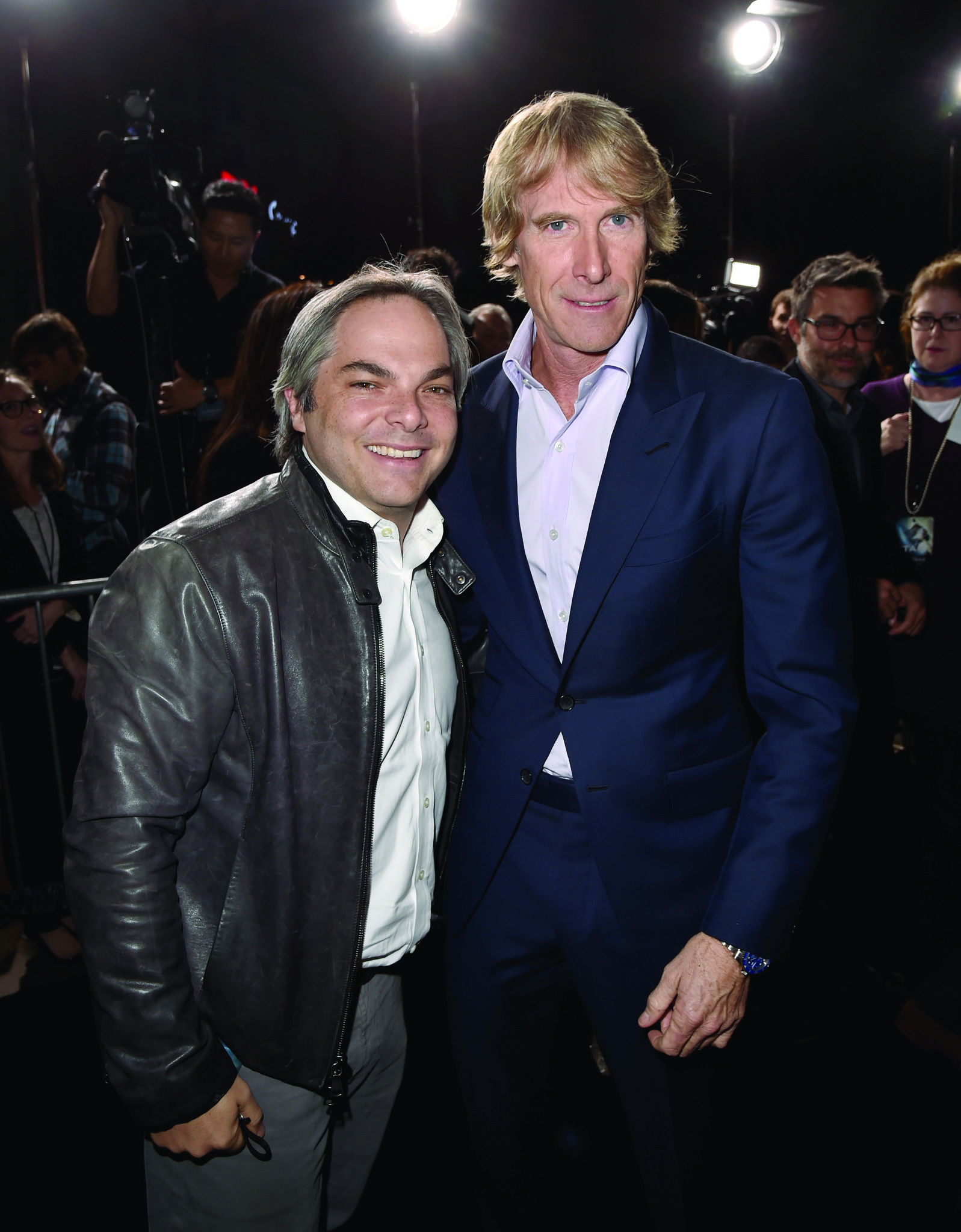 Michael Bay at an event for Project Almanac (2015)