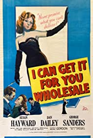Susan Hayward, George Sanders, and Dan Dailey in I Can Get It for You Wholesale (1951)