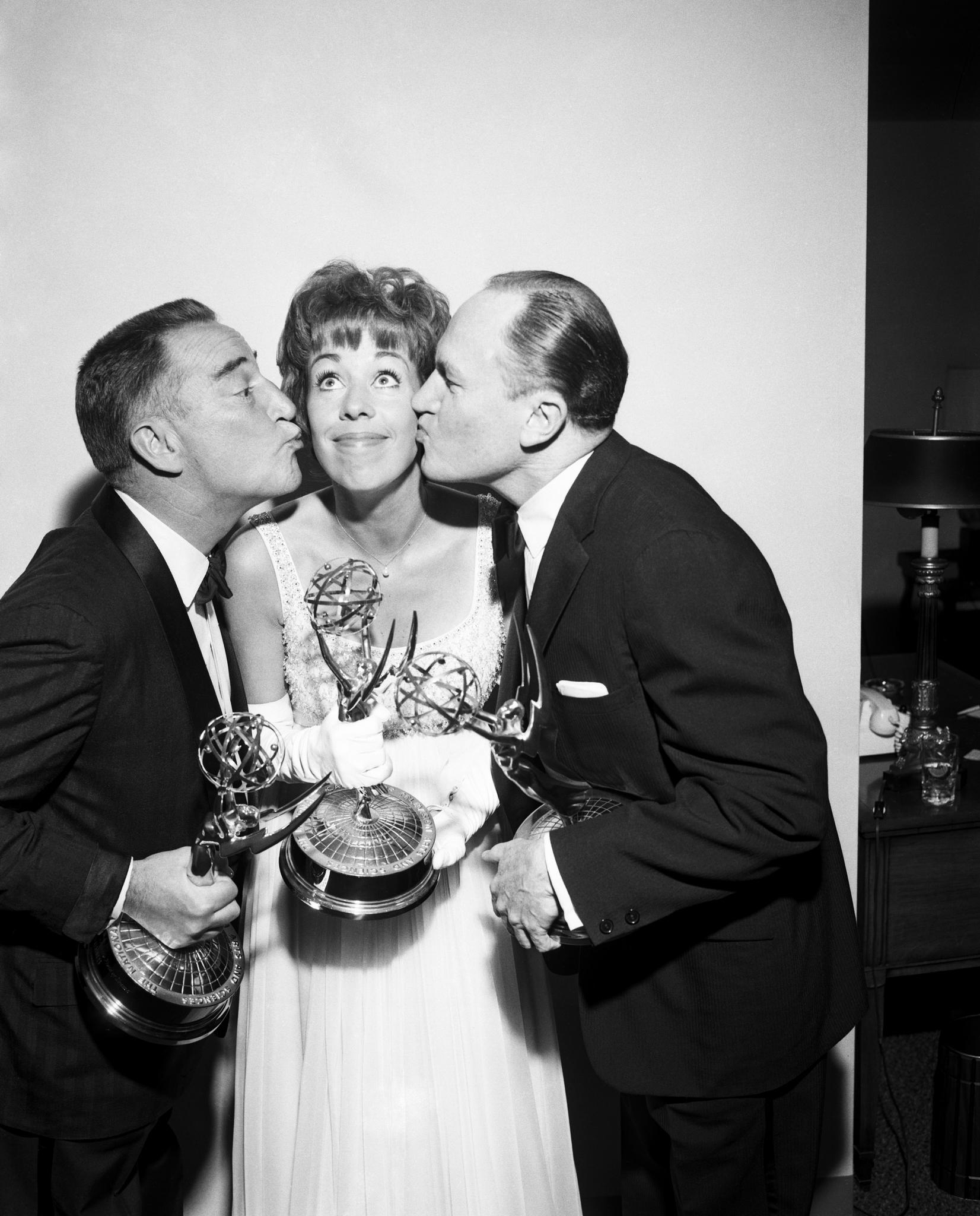 Carol Burnett, E.G. Marshall, and Garry Moore