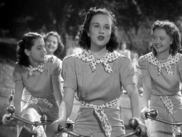 Deanna Durbin, Marcia Mae Jones, and Helen Parrish in Mad About Music (1938)