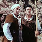 Tyrone Power and Jack Hawkins in The Black Rose (1950)