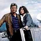 Richard Dean Anderson and Elyssa Davalos in MacGyver (1985)