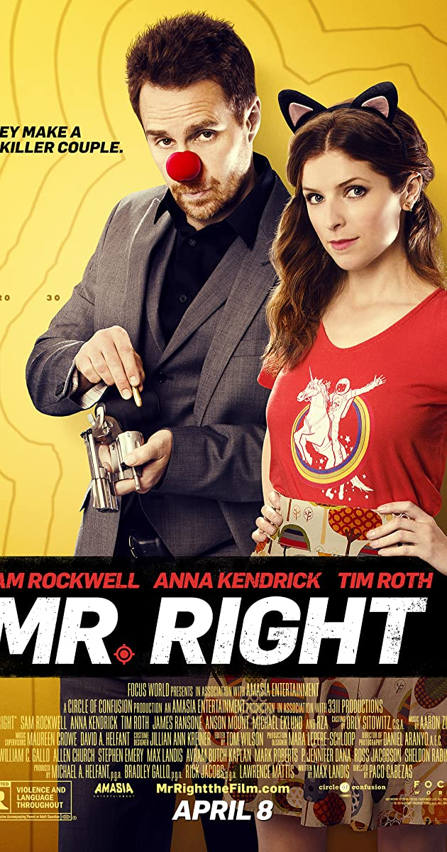 Mano tobulas gangsteris / Mr. Right (2016) Onine
