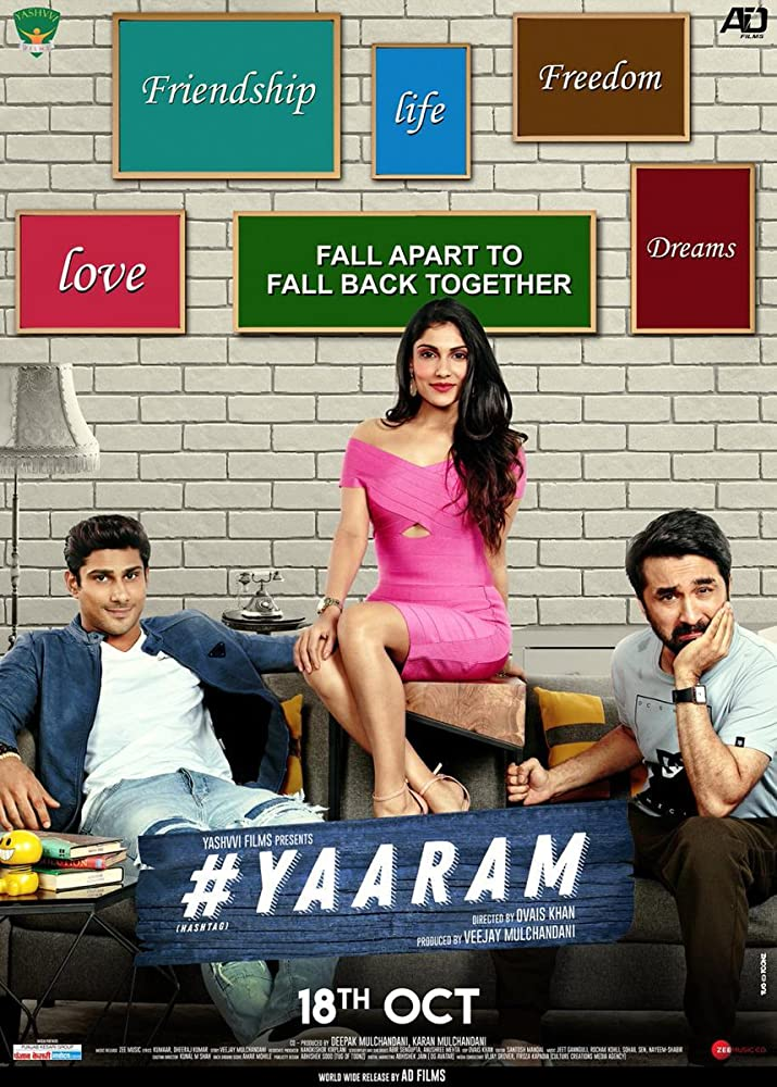 Yaaram 2019 Hindi Full Movie 480p HDRip 350MB ESubs x264 AAC