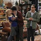 Johnny Galecki, Melissa Rauch, and Kunal Nayyar in The Big Bang Theory (2007)