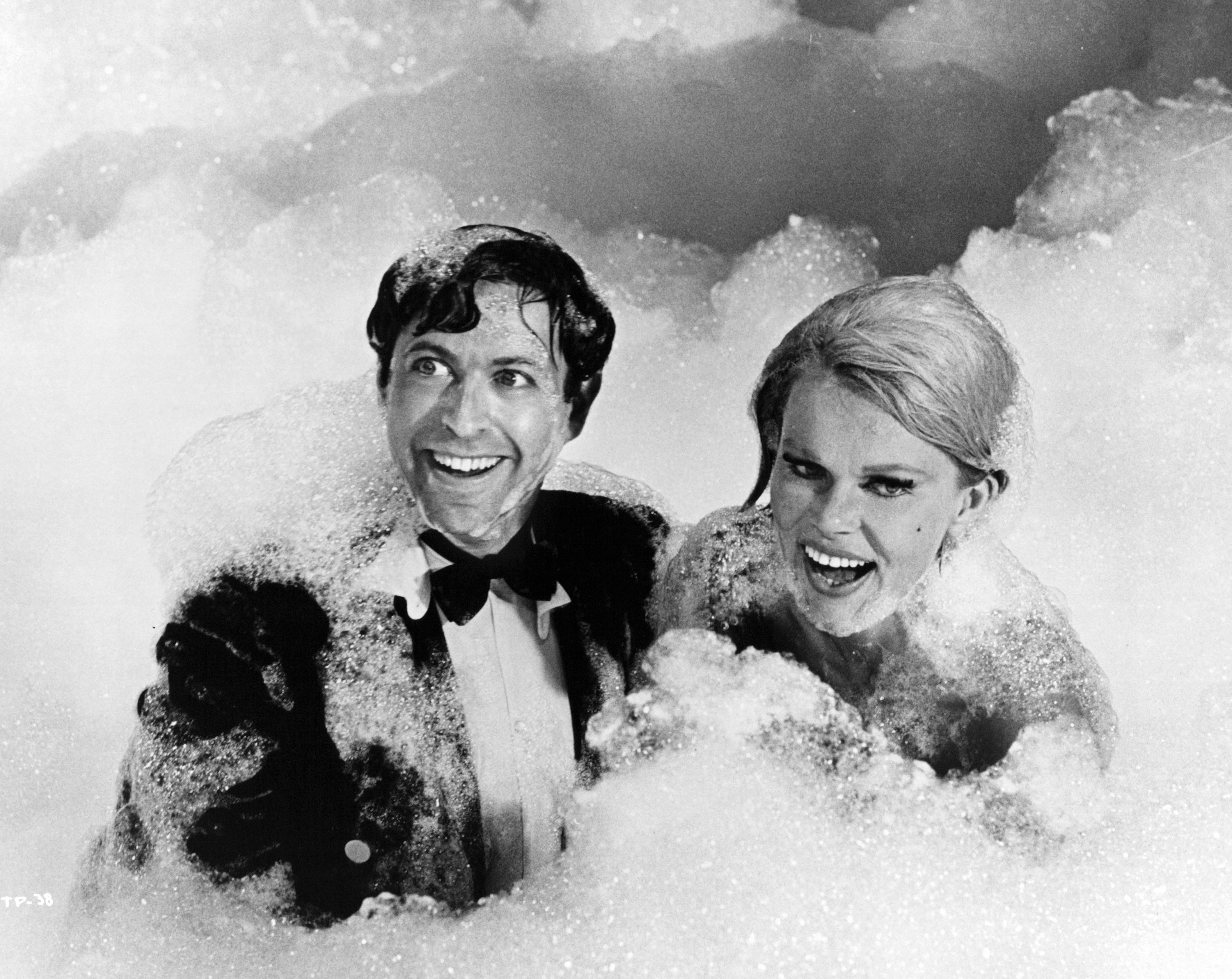 Corinne Cole and Steve Franken in The Party (1968)