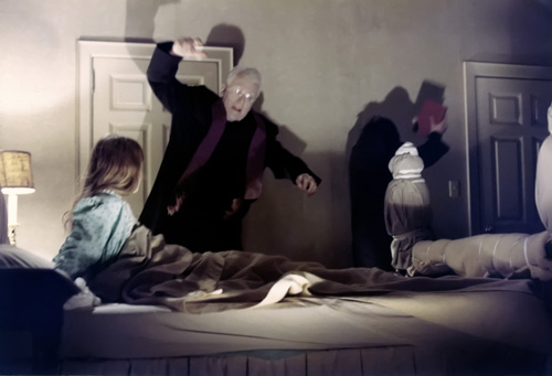 Linda Blair and Max von Sydow in The Exorcist (1973)