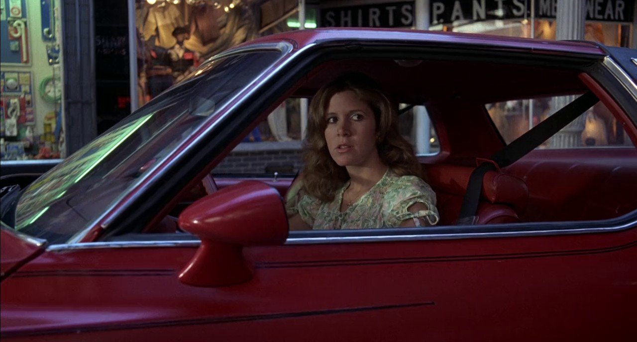 Photo of Carrie Fisher  - car
