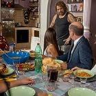 Antonio Albanese, Claudio Amendola, Sonia Bergamasco, and Paola Cortellesi in Come un gatto in tangenziale - Ritorno a Coccia di Morto (2021)
