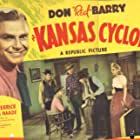 Don 'Red' Barry, Reed Howes, Lynn Merrick, and Forrest Taylor in Kansas Cyclone (1941)