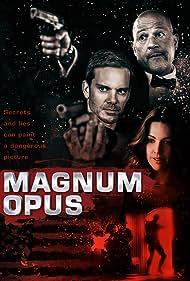 Adam J. Harrington, Clark Johnson, Louise Griffiths, and Pej Vahdat in Magnum Opus (2017)