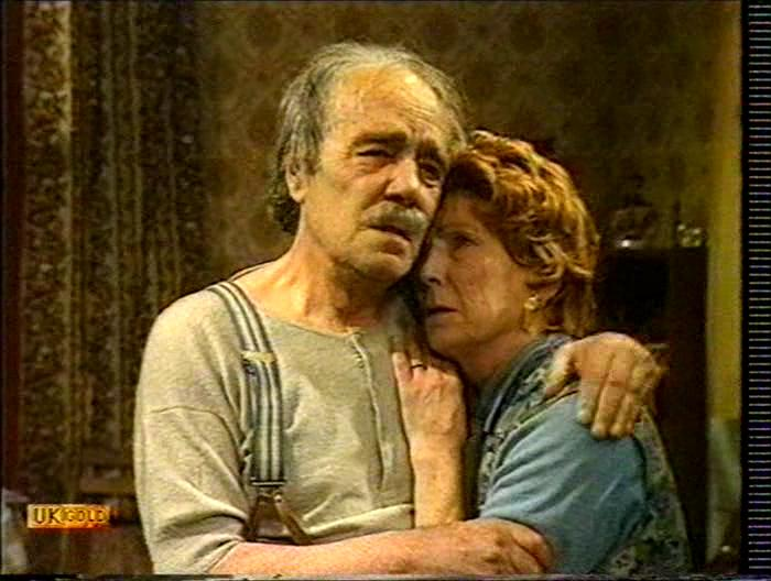 Gretchen Franklin and Max Wall in The Other One (1977)