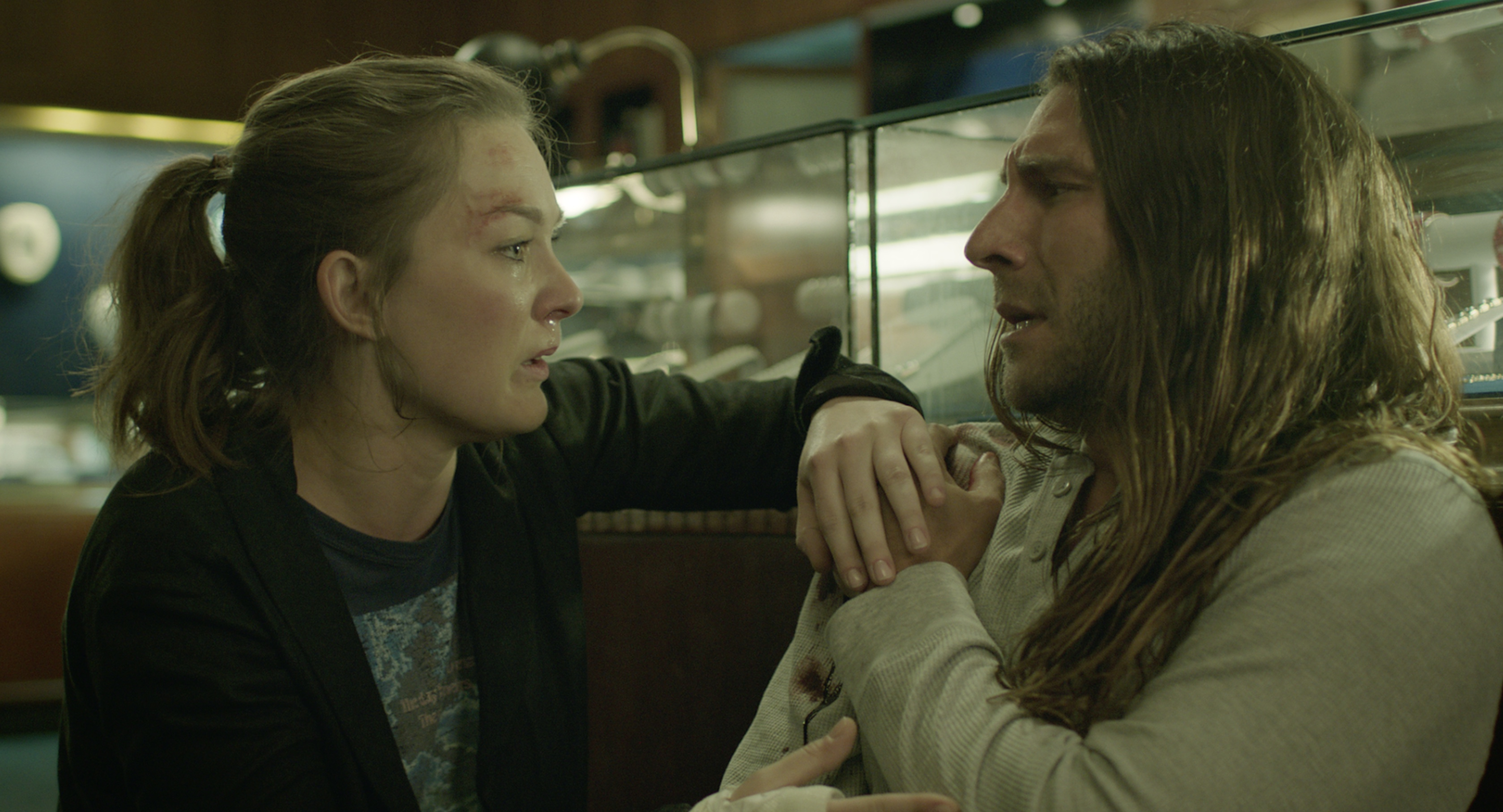 Zach McGowan and Virginia Kull in Imperfections (2018)