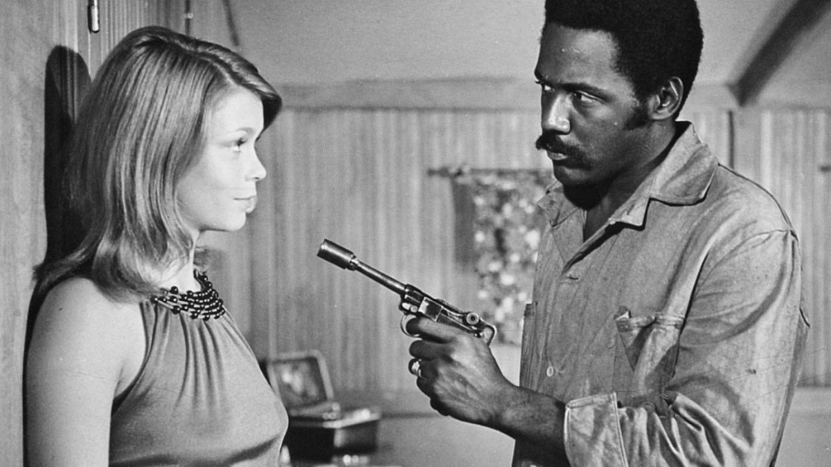 Neda Arneric and Richard Roundtree in Shaft in Africa (1973)
